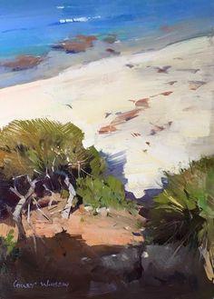 "Colley Whisson     Berrara Coastline, Aust 10""x 7"" Oil"
