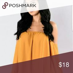 A Soft Touch Top Woven Off - Shoulder Quarter length sleeve 100% Polyester Fashion Nova Tops Blouses