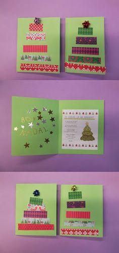 TARGETES DE NADAL - Material: Cartolina, tisores, paper de colors, llaç de regal, cola, retoladors brillants, gomets - Nivell: Infantil P4 2014-15