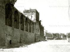 Foto storiche di Roma - Le Mura Aureliane nei pressi di Porta Pinciana