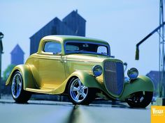 Visit The MACHINE Shop Café... ❤ Best of Hot Rod @ MACHINE ❤ (1934 Ford 3-window Street Rod)