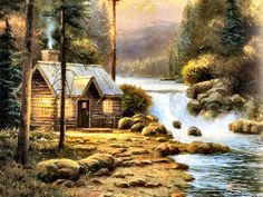 The End of a Perfect Day by Thomas Kinkade