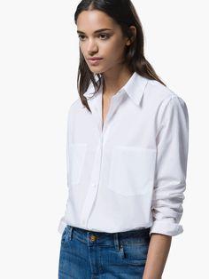 CĂMAŞĂ OVERSIZE White Shirts, Blouse, Outfits, Tops, Women, Fashion, Crisp White Shirt, White People, Shirts