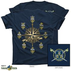 Semper Fortis (Always Strong) CPO Anchor History T-shirt, Navy