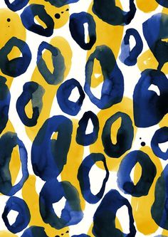 pattern by Minakani #animalskin #watercolor #ink #circles #tasks #minakani