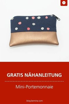 Schnittmuster kostenlos Taschen Freebooks Free sewing instructions for a mini wallet # pu Diy Sewing Projects, Sewing Tutorials, Sewing Patterns, Diy Bags Purses, Purses And Handbags, Diy Wallet, Diy Handbag, Sewing Techniques, Free Sewing