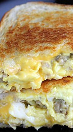 BREAKFAST!!--Sausage and Egg Grilled Cheese