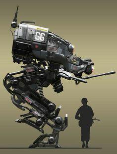 INSPIRATION : Bi-Pod de combat Piz-Buin 23e U-gÉ (unité de génié attaquant le secteur de défense Assalem-Vadis, Mans-Field)
