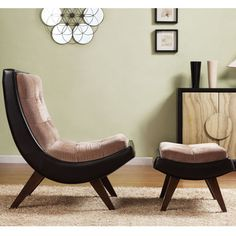 Shop for INSPIRE Q Albury Two-Tone Lounging Chair with Ottoman. Get free…