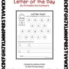 26 Printable worksheets for letter identification and letter formation practice. Students can color each gumball that contains the specified letter...