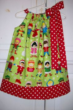 Christmas Pillowcase Dress You plus Me Merry by lilsweetieboutique, $19.99