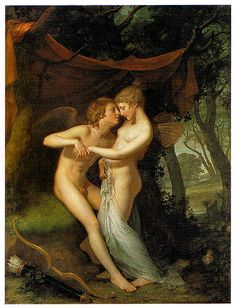 Southern Folk Artist & Antiques Dealer/Collector: Cupid and Psyche in the Nuptial Bower, by Hugh Douglas Hamilton Nocturne, Eros And Psyche, Ghost In The Machine, Human Art, Illustrations, Greek Mythology, Roman Mythology, Gods And Goddesses, Erotic Art