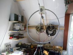 Home made Magnetic loop make from a old bicycle wheel for qrp