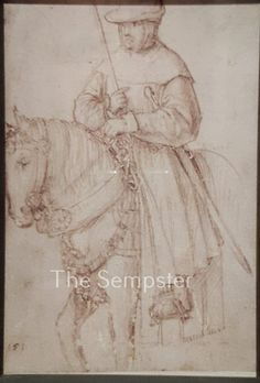 German Emperor Maximilian I in simple travellers' clothing, ca. 1510/1515 Hans Holbein the older, Augsburg. Like many medieval kings, Maximilian travelled most of his time as emperor, and there were Reichstage in Augsburg 1500, 1510 and 1515, the sketch might have been made at any of these. 15665907_1172069166204650_7168884977165373925_n.jpg (650×960)
