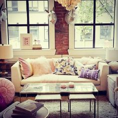 I like the brick, the windows with that great light, and the couch.