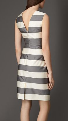 Striped Silk Blend Dress | Burberry