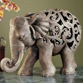 Found it at Wayfair - Anjan the Elephant Jali Figurine