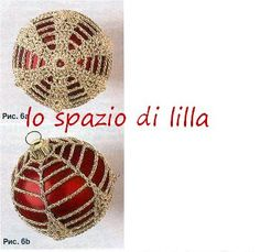 lo spazio di lilla: Palline di Natale crochet con schemi / Christmas baubles Crochet diagrams Crochet Box, Beaded Jewelry Patterns, Christmas Decorations, Greeting Cards, Christmas Things, Crochet Christmas, Crocheting, Xmas, Bebe