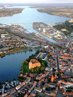The castle: Koldinghus in the middle of Kolding, Denmark