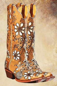 leather womens cowboy boots png clip art digital clipart download printable graphics western country fashion