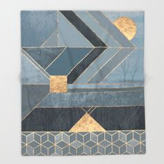 Nordic Blue blanket by Elisabeth Fredriksson