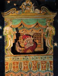 """""""Punch & Judy"""" handmade Christmas card by Clive Hicks-Jenkins"""