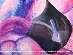 Titulo: Cala negra  Tamaño: 36 x 48 cm.  Técnica: Tinta china sobre papel  por Zarina Tollini  Puedes ver más  zarinatollini.blo...  www.facebook.com/...