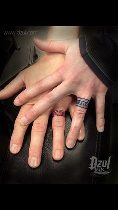 love knot engagement ring couples tattoos // matching ring finger ...