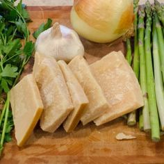 Parmesan Rind Stock for Soup and Risotto Parmesan Rind, Garlic Bulb, Dry White Wine, Parmigiano Reggiano, Vegetable Stock, Fennel, Recipe Using, Celery, Italian Recipes