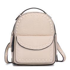 Bolsas pequeñas mujeres primera calidad mochilas de piel natural con remaches [AL93077] - €65.46 : bzbolsos.com, comprar bolsos online