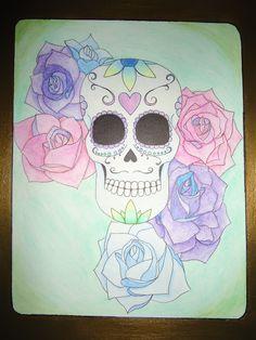 Sugar skull My Portfolio, Sugar Skull, Tattoos, Art, Art Background, Tatuajes, Sugar Skulls, Tattoo, Kunst