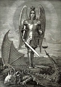 Hans Thoma - Saint Michael