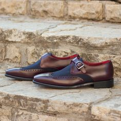 Handmade Men Two tone monk Shoes, Men Navy suede and brown leather formal  shoes sold by Rangoli Collection. Shop more products from Rangoli  Collection on ... 8da1c6089f