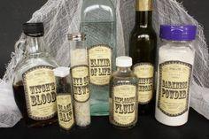 magic potion ingredient labels