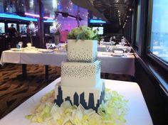 #Chicago Inspired wedding cake aboard Odyssey