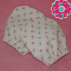 Pink Rose Bud No Scratch Flannel Infant Mittens  JBCD by jodiebs,