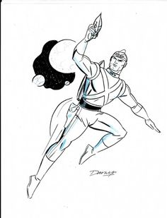 Adam Strange Sketch by Darwyn Cooke
