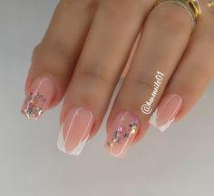 Shellac Nails, Glitter Nails, French Nail Designs, Nail Art Designs, Precious Nails, Minimalist Nails, Manicure E Pedicure, Long Acrylic Nails, Nail Polish Colors