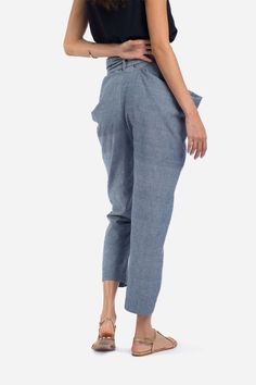 The Sideswept Dhoti + Chambray Teal - MATTER