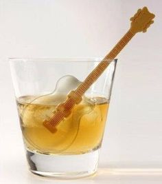 Guitar ice cubes.. rock on! And stir it up :)
