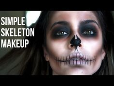 Looking for for ideas for your Halloween make-up? Check out the post right here for creepy Halloween makeup looks. Skeleton Face Makeup, Skull Face Makeup, Halloween Skeleton Makeup, Haloween Makeup, Halloween Makeup Looks, Halloween Costumes, Halloween Halloween, Costume Makeup, Vintage Halloween