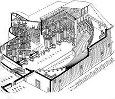 Palladio's Teatro Olimpico. Isometric view