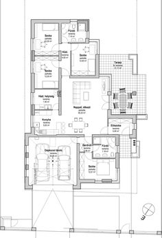 Dream House Plans, House Floor Plans, Home Design Plans, House Layouts, Atrium, Bungalow, My House, Sweet Home, New Homes