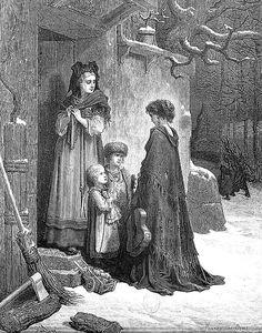 Gustave Doré - illustrations des Fables de la Fontaine - La Cigale et la Fourmi.