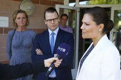 Princess Victoria and Prince Daniel visit the Swetox in Södertälje
