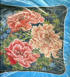 RARE Candamar Floral Peonies Pillow Needlepoint Kit SEALED | eBay