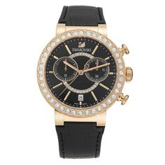 Nice Swarovski Citra Sphere Chrono Black & Rose Gold Watch | 5055209 just added...