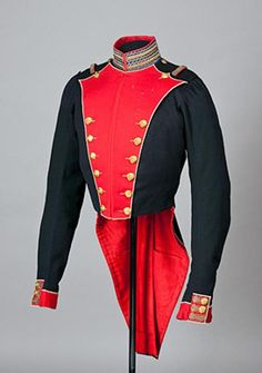 Imperial Russian officer's tunic of the Life Guards Semenov regiment, circa 1829-1855.