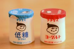 chichiyasu yogurt (why can't north american yogurt be this cute?)
