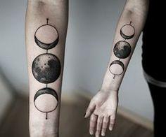 Moon phase tattoos